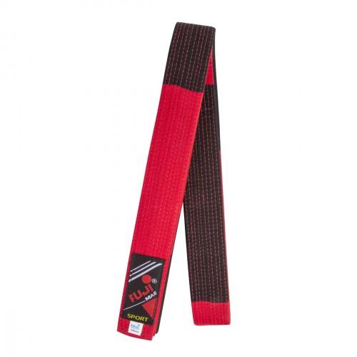 Cinturón especial Maestro. 300 cm. Rojo/negro