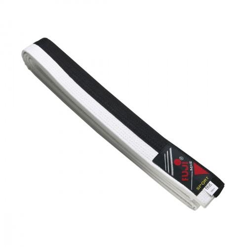 Cinturón Defensa Personal. Negro/Blanco