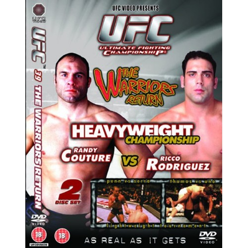 DVD : UFC Ultimate Fighting Championship 39