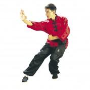 Kung Fu Uniform. Red-Black