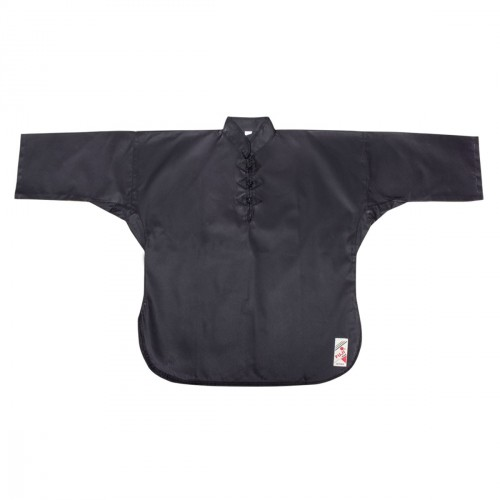 Closed Kung Fu Jacket. Black. Cotton