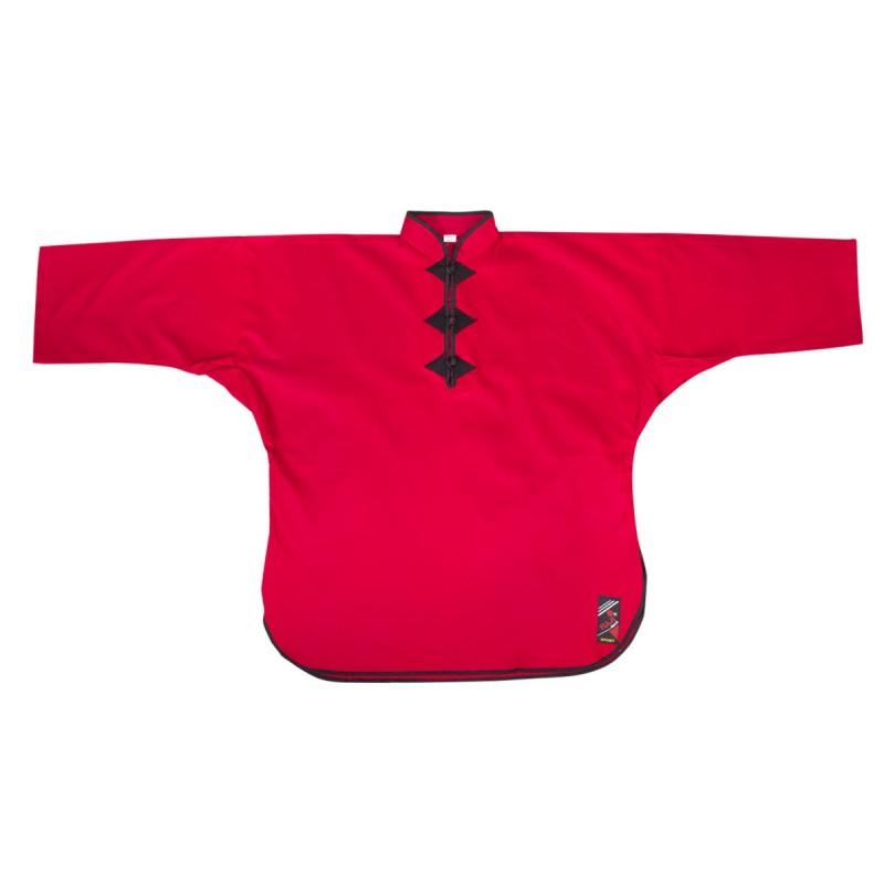 Veste de Kung Fu Fermée. Rouge. Coton
