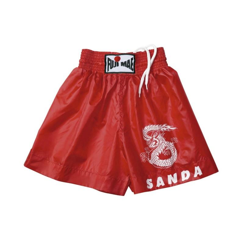 Pantalon Sanda. Rouge. Polyester