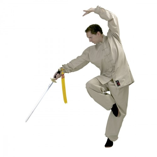 Tai Chi Uniform. Beige. Polycotton