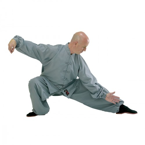Tai Chi Uniform. Grey. Polycotton