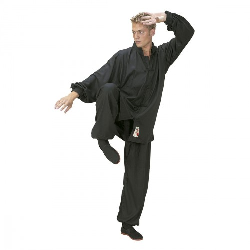 Tai Chi Uniform. Black. Polycotton