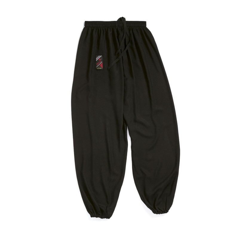 Pantalón Tai-Chi. Negro. Poliéster/Algodón
