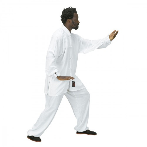 Tai Chi Uniform. White. Polycotton
