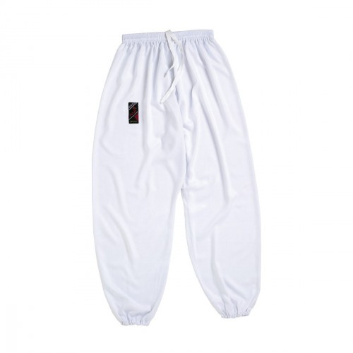Tai Chi trousers. White. Polycotton