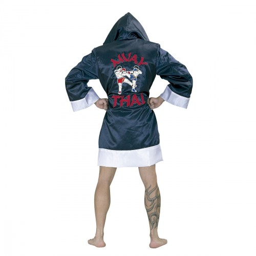 Kick / Thai Boxing robe. Dark blue