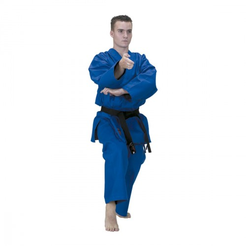Blue Karate Uniform. Competition.
