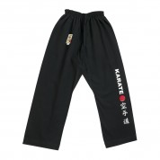 Karate Trouser. Red Point. Black.
