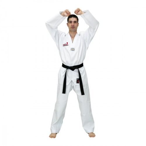 Taekwondo Uniform. White Neck. Diamond.