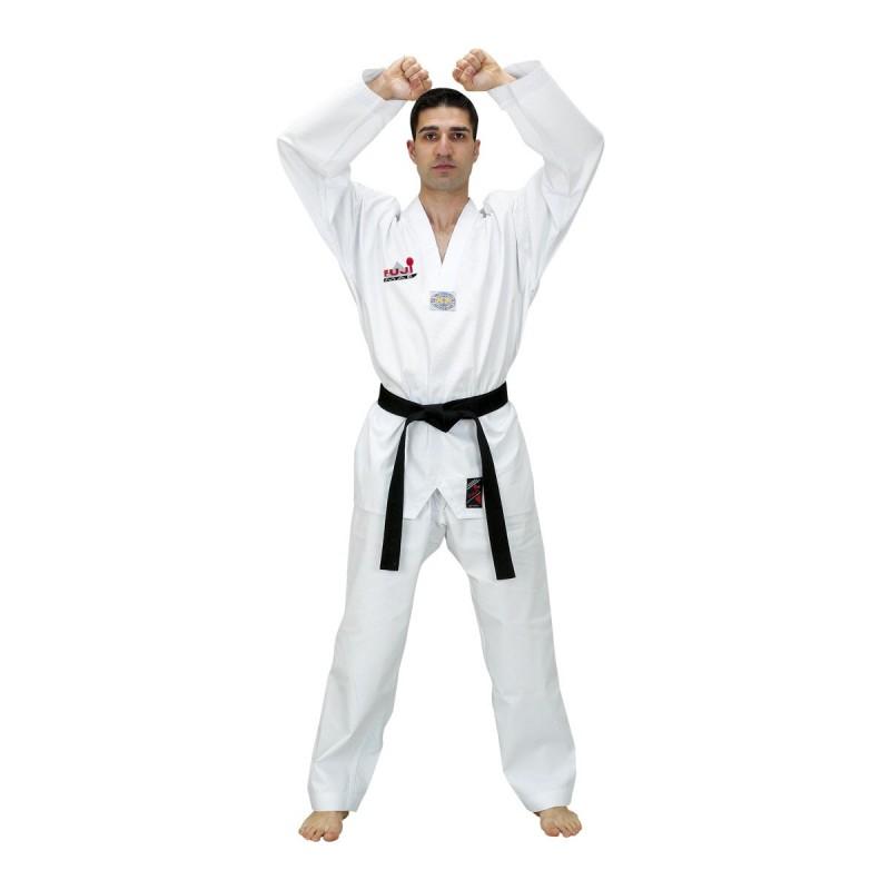 Taekwondo Uniform. White Neck. Diamond.