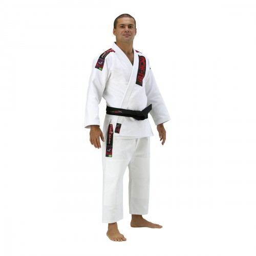 Brazilian Jiu-Jitsu Uniform . White. Heavy