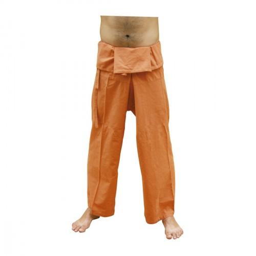 Pantalon Thai. Algodón 100%. Blanco.