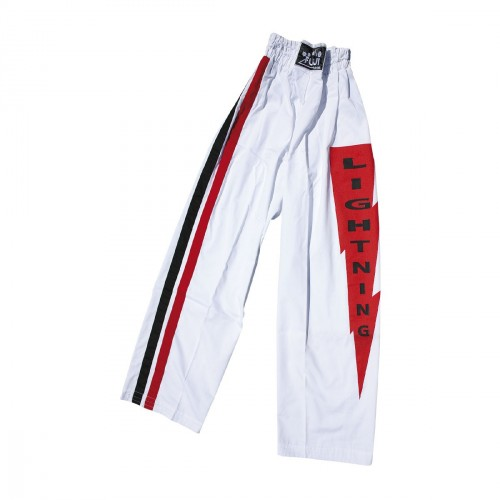 Light Contact Trousers. White with Strips