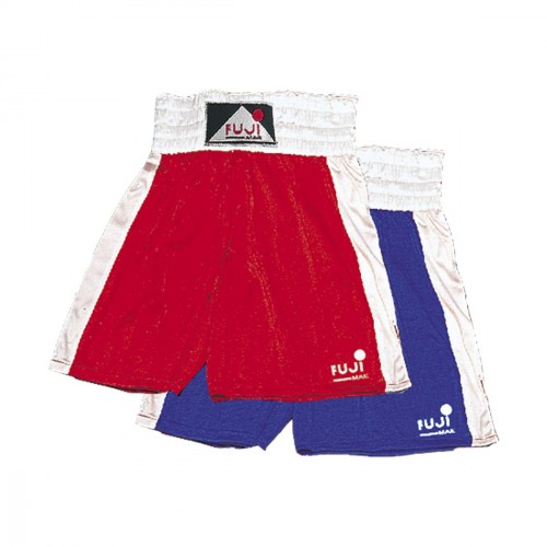 Boxing Shorts. Satin. Blue. Side Strip.