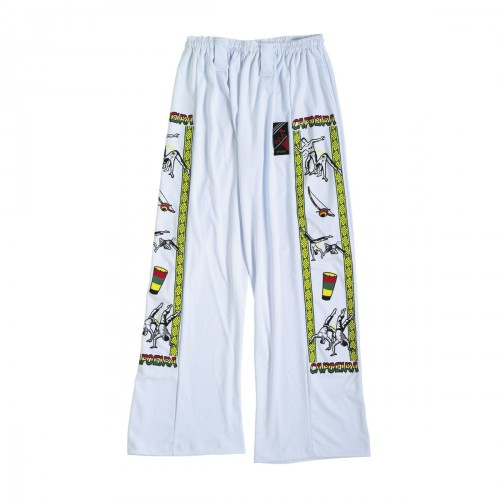Capoeira Trousers. White/design