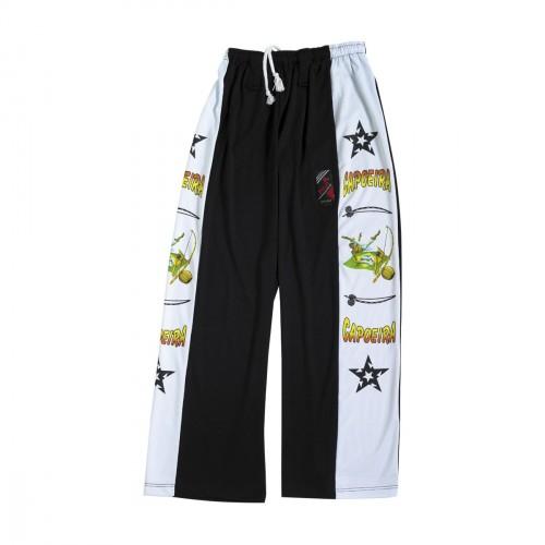 Pantalon Capoeira. Negro/dibujos.