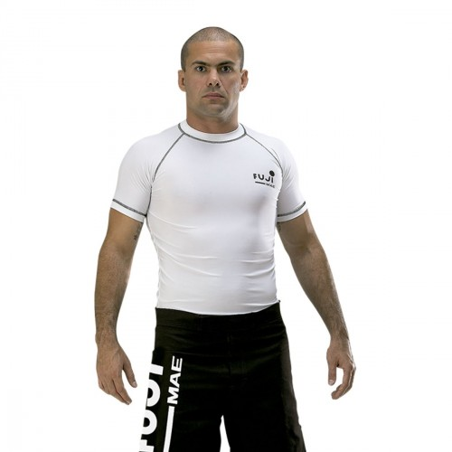 Camiseta Elastano MMA., Blanco.