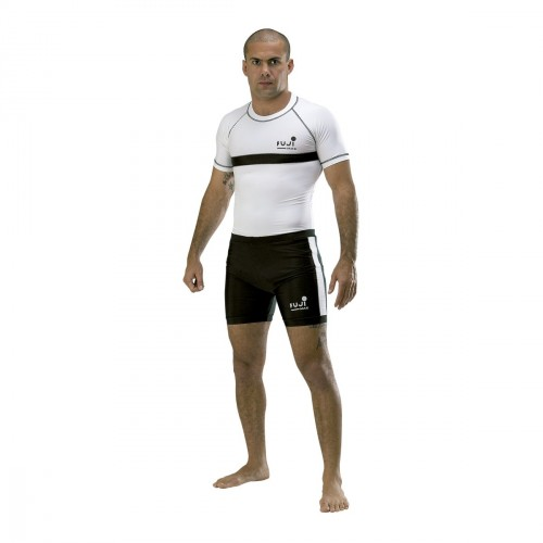 T-shirt Elastane MMA. White with stripes.