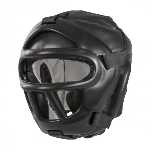 Casco máscara extraíble. Black Night