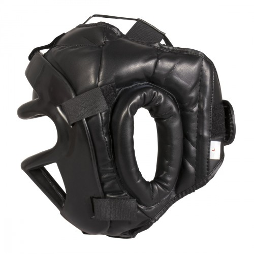 Head Guard with removible Mask. Black Knight