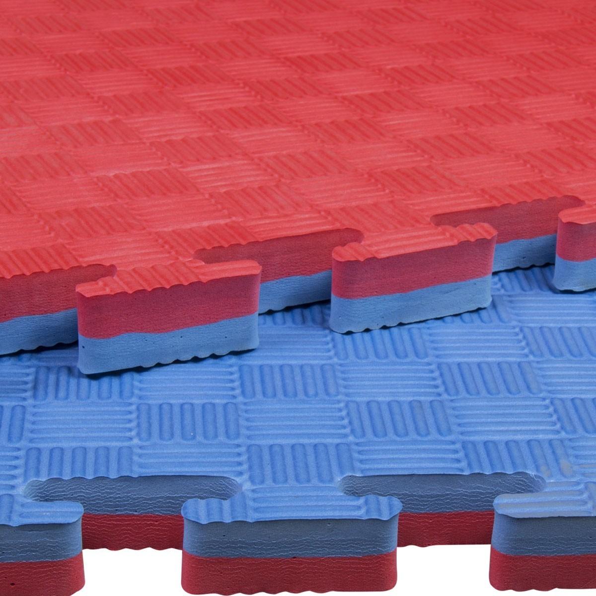 Tatami Puzzle Rojo Azul 100x100x4 Cm