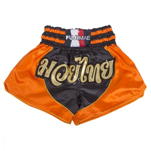 Thai Short. Noir/Orange/Or