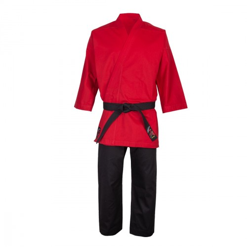 Uniforme Defensa Personal. Rojo-Negro