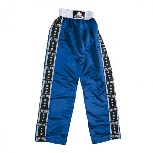Pantalon  Full .Satin Bleu. FUJI-STRIPES.