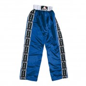 Full Satin Trouser. Blue. 'Fuji-Stripes'.