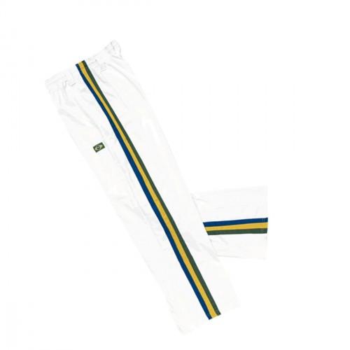 Pantalon Capoeira. Blanco-Tricolor.