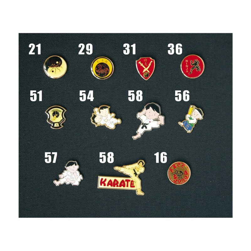 Pin's. Differents styles