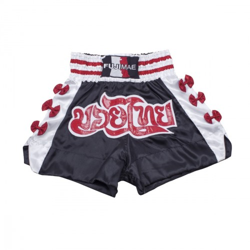 Thai Short. Noir. Ruban rouge