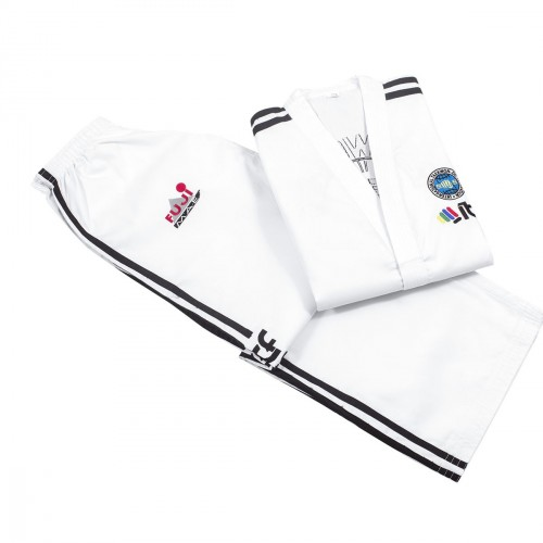 Dobok ITF. Master Degree. Ribbed. Approved