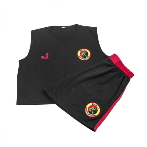 Sanda uniform. Black/Red. Polyester