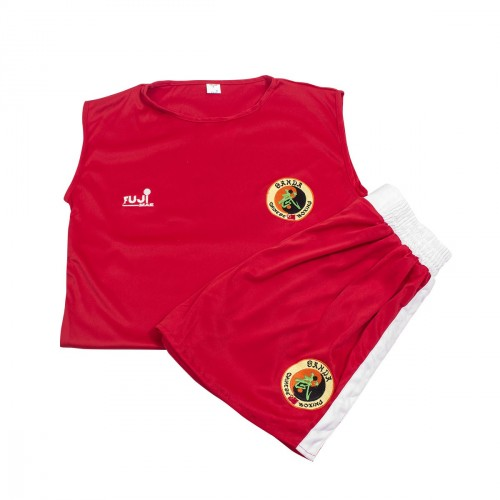 Sanda uniform. Red/White. Polyester