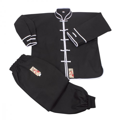 Kung Fu Uniform. Black/White Edge