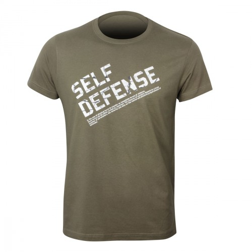 Self Defense T-Shirt. Text