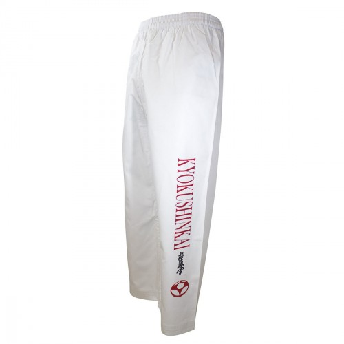 Kyokushinkai-Kanji Trousers. White