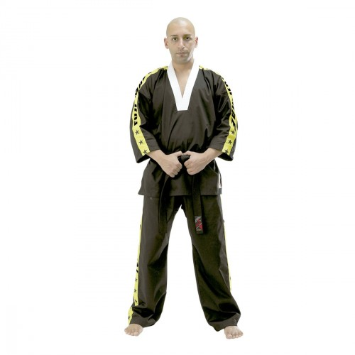 Kick Boxing uniform. Black/Yellow
