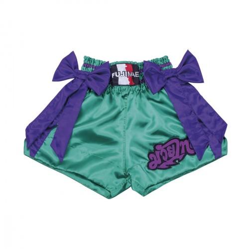 Thai Short. Verde. Lazo Púrpura