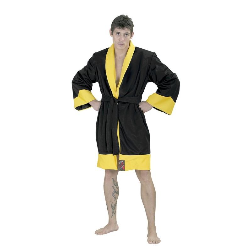 Kick / Thai Boxing robe. Black/Yellow
