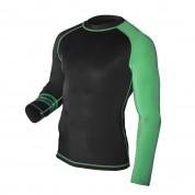 MMA Rashguard. ProWear. Green/Black
