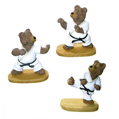 Set 3 figuritas de Karate-Oso.  6 cm