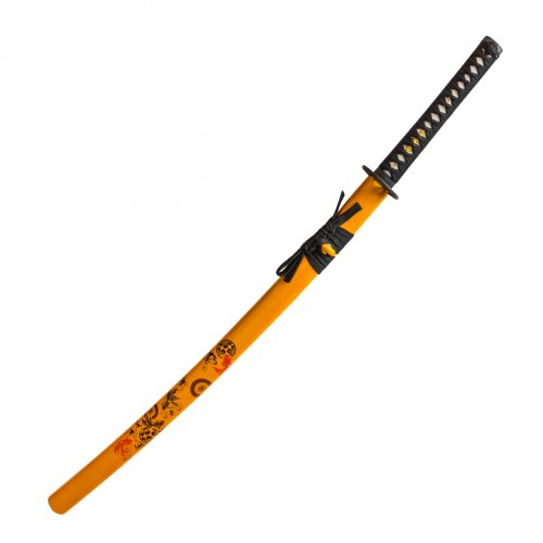 Katana Acier Forgé. Orange