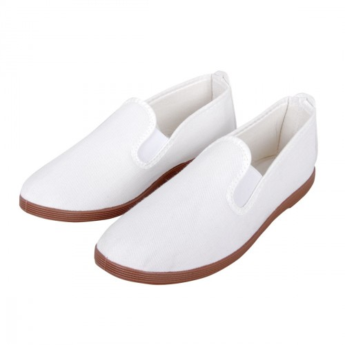 Kung Fu / Tai Chi Slippers. White