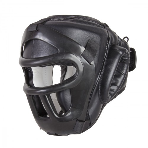 Black Night Head Guard with Upper Protection